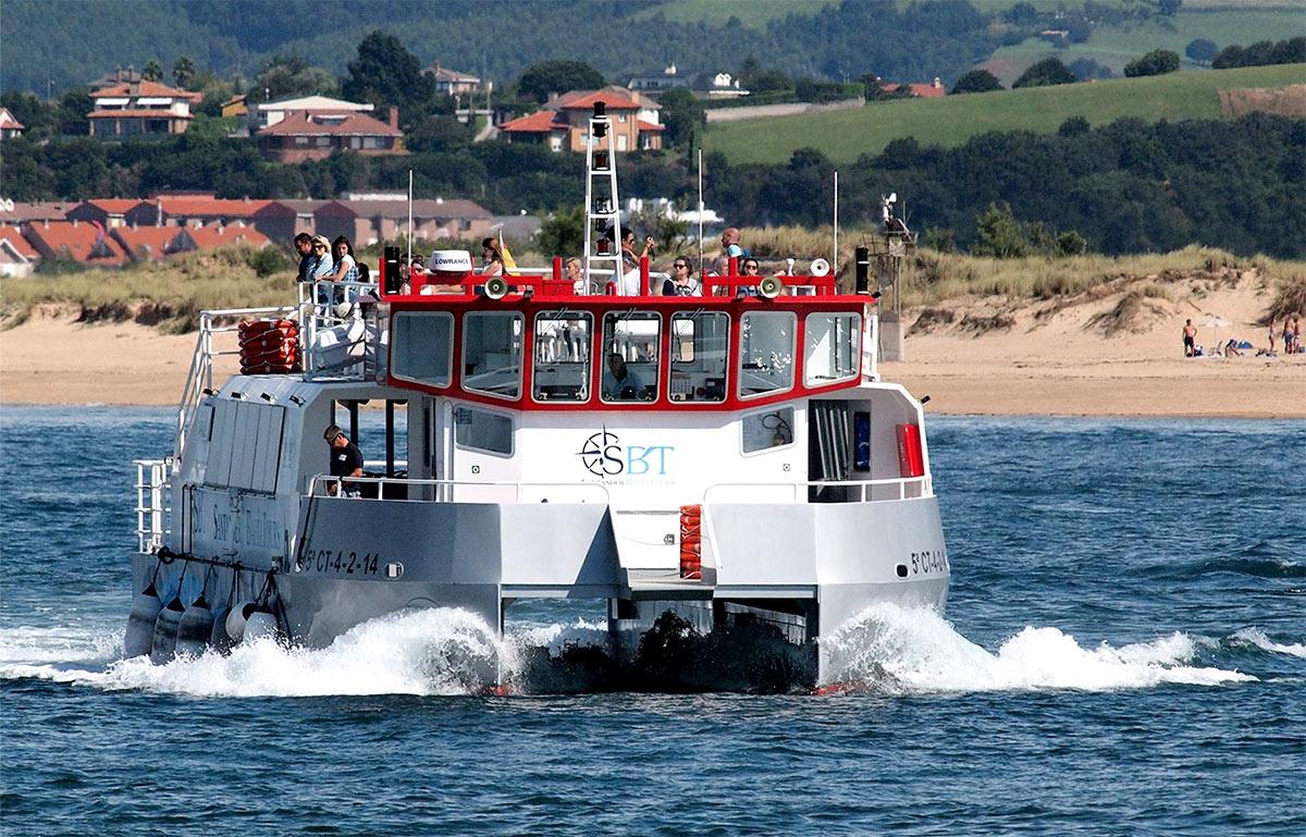 Catamarán de pasajeros de aluminio naval Doblemar Dos